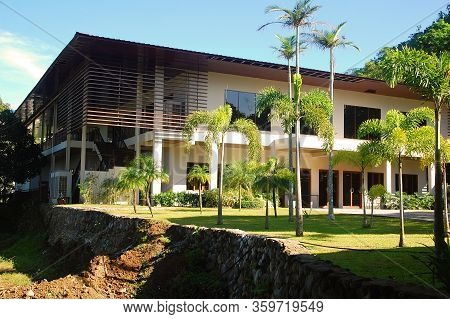 Batangas, Ph - July 30: Conference Hall Facade At Ccf Mount Makiling Recreation Center On July 30, 2