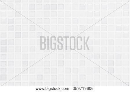 White Or Gray Ceramic Wall And Floor Tiles Abstract Background. Paper Grid Square Graph Line Full Pa