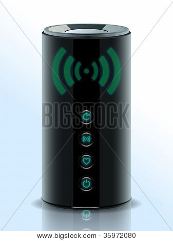 Realistic Illustration Of A 3D Wireless Home Router