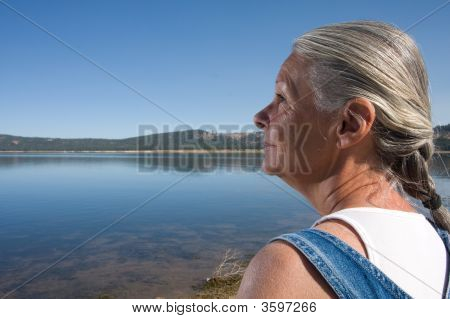 Woman At Lake