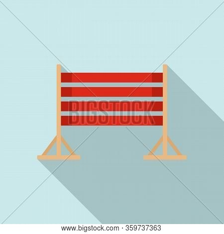 Dog Training Wood Barrier Icon. Flat Illustration Of Dog Training Wood Barrier Vector Icon For Web D