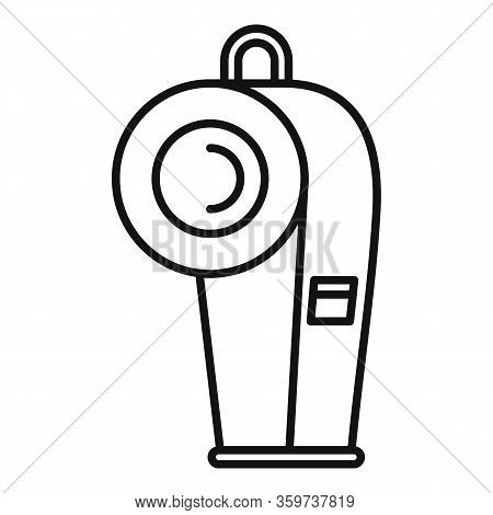 Dog Training Whistle Icon. Outline Dog Training Whistle Vector Icon For Web Design Isolated On White