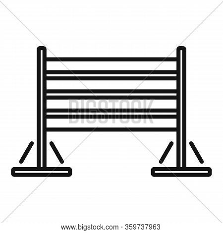 Dog Training Wood Barrier Icon. Outline Dog Training Wood Barrier Vector Icon For Web Design Isolate