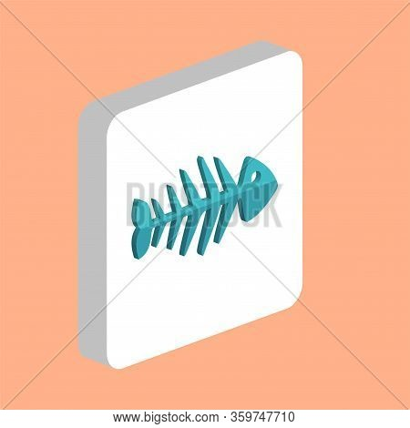 Fish Skeleton Simple Vector Icon. Illustration Symbol Design Template For Web Mobile Ui Element. Per