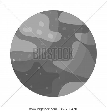 Isolated Object Of Pluto And Nasa Icon. Graphic Of Pluto And Nebula Stock Symbol For Web.