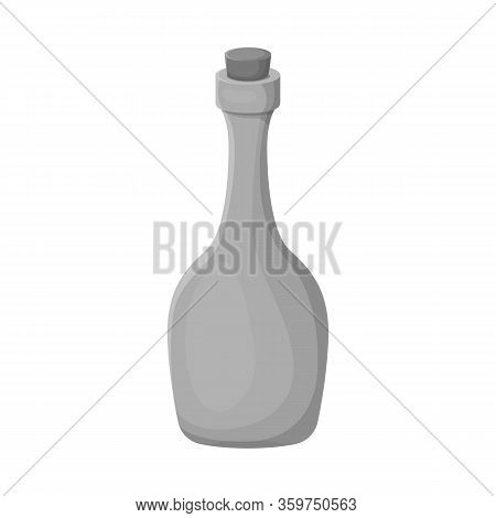 Isolated Object Of Rum And Bottle Symbol. Web Element Of Rum And Stopper Stock Symbol For Web.