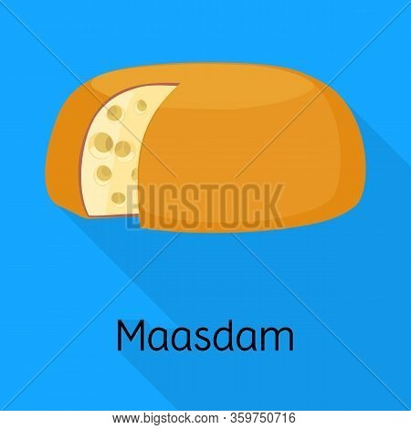 Isolated Object Of Cheese And Maasdam Sign. Web Element Of Cheese And Piece Stock Vector Illustratio