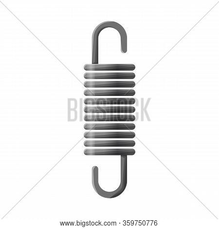 Vector Design Of Coil And Spiral Symbol. Graphic Of Coil And Absorber Vector Icon For Stock.