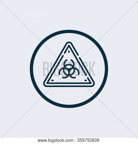 Biohazard Icon Isolated On White Background From Virus Collection. Biohazard Icon Trendy And Modern