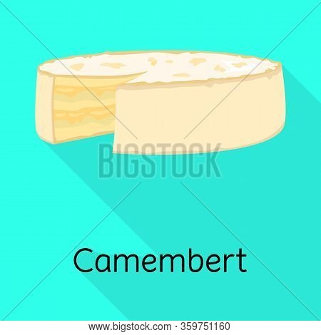 Isolated Object Of Cheese And Maasdam Symbol. Graphic Of Cheese And Piece Stock Symbol For Web.