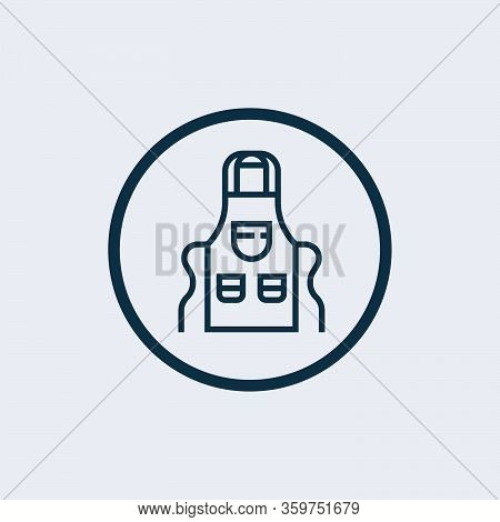 Apron Icon Isolated On White Background From Cafe Collection. Apron Icon Trendy And Modern Apron Sym