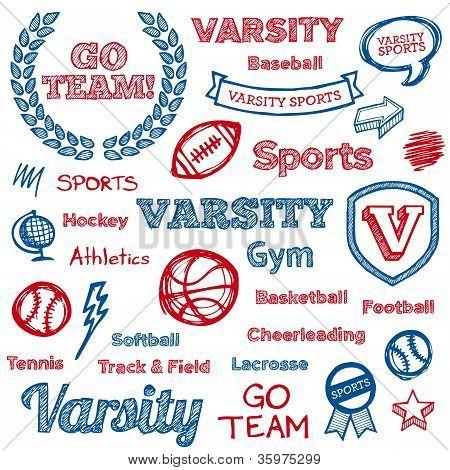School Sports Hand-drawn Elements
