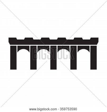 Bridge Vector Icon.black Vector Icon Isolated On White Background Bridge.