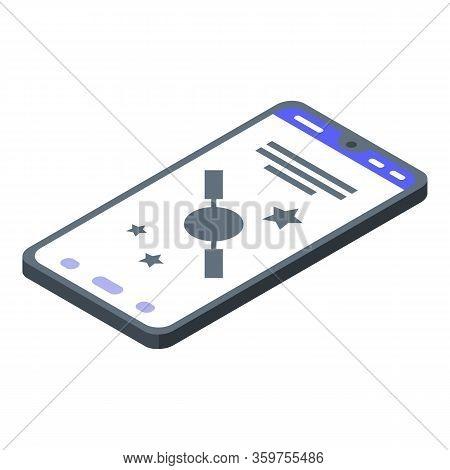 Satellite Smartphone Finder Icon. Isometric Of Satellite Smartphone Finder Vector Icon For Web Desig