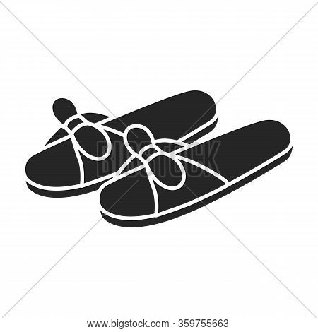 House Slipper Vector Icon.black Vector Icon Isolated On White Background House Slipper.