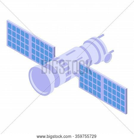 Broadcast Satellite Icon. Isometric Of Broadcast Satellite Vector Icon For Web Design Isolated On Wh