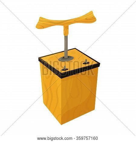 Detonator Vector Icon.cartoon Vector Icon Isolated On White Background Detonator.