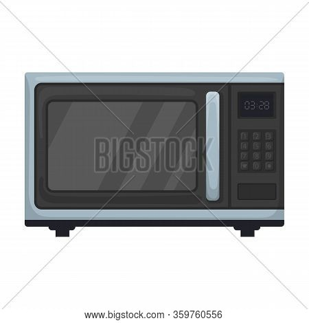 Microwave Oven Vector Icon.cartoon Vector Icon Isolated On White Background Microwave Oven.
