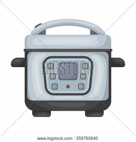 Slow Cooker Vector Icon.cartoon Vector Icon Isolated On White Background Slow Cooker.