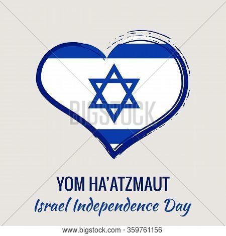 Israel Independence Day Greeting Card, Banner, Vector Illustration. Israeli National Day. Israel Fla