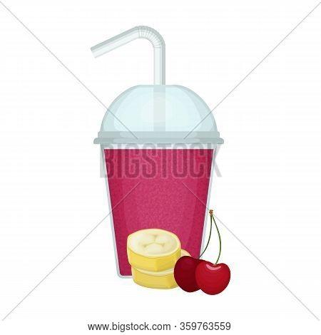Fruit Smoothie Vector Icon.cartoon Vector Icon Isolated On White Background Fruit Smoothie.
