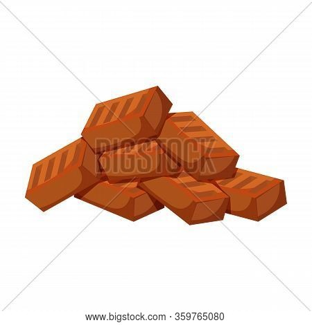 Pile Brick Vector Icon.cartoon Vector Icon Isolated On White Background Pile Brick.