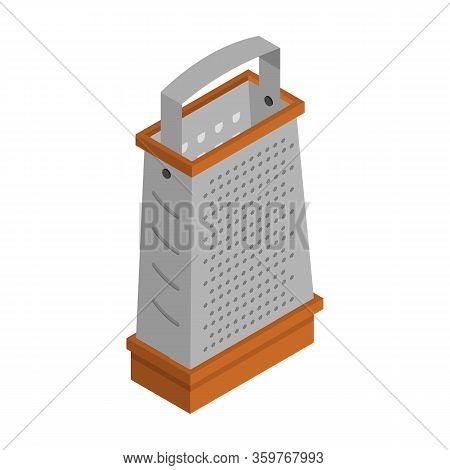 Grater Vector Icon. Isometric Vector Icon Isolated On White Background Grater.