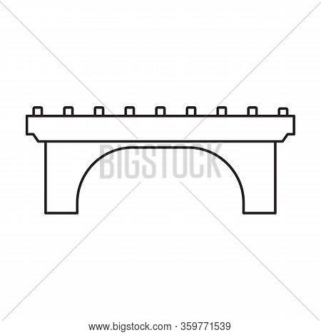 Bridge Vector Icon.outline Vector Icon Isolated On White Background Bridge.