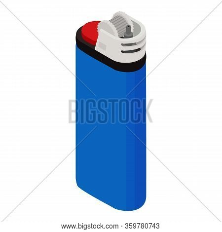 Portable Lighter Icon. Isometric Of Portable Lighter Vector Icon For Web Design Isolated On White Ba