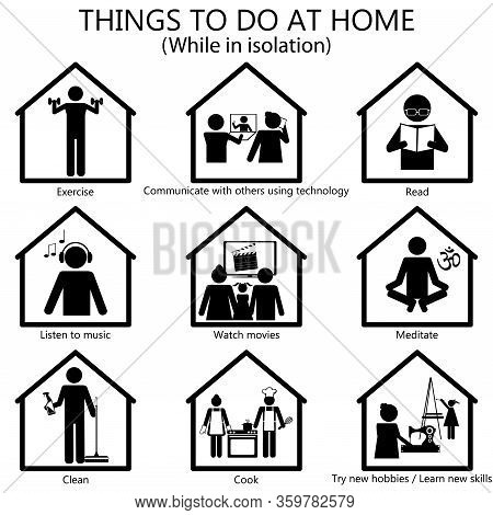Things To Do At Home Illustration, Regarding The