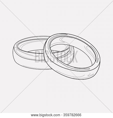 Engagement Ring Icon Line Element. Vector Illustration Of Engagement Ring Icon Line Isolated On Clea