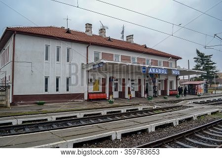 Arad, Romania - December 01, 2012: The New Arad Train Station