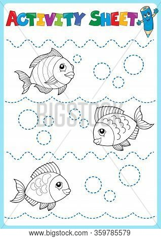 Activity Sheet Topic Image 1 - Eps10 Vector Picture Illustration.