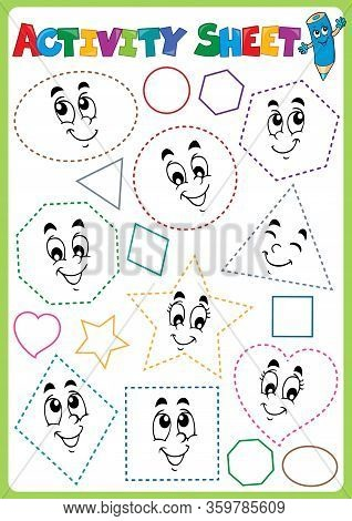 Activity Sheet Topic Image 3 - Eps10 Vector Picture Illustration.
