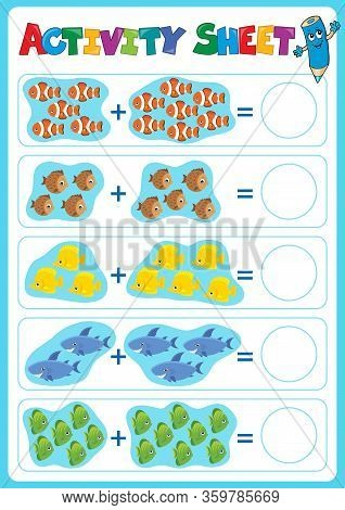 Activity Sheet Topic Image 5 - Eps10 Vector Picture Illustration.