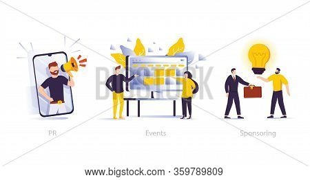 Marketing Campaign, Workflow Planning And Time Management. Business Funding, Money Investing Clipart