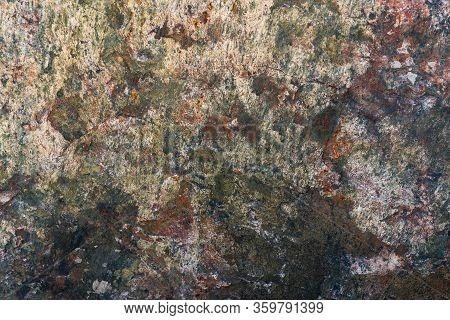 Texture Of Natural Rock Granite Natural Rock Granite, Magmatic Structure With Quartz And Mica And Tr