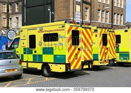 London, Uk - July 6, 2016: London Ambulance Service Operated Neonatal Emergency Ambulance. It Is Par