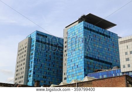 London, Uk - July 6, 2016: Modern Architecture Of Royal London Hospital In The Uk. Rlh Is Part Of Ba