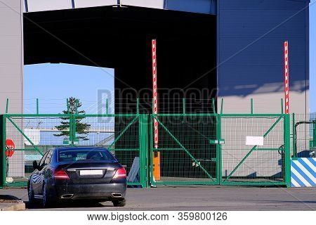 Quarantine Measures. The Border Checkpoint Is Closed. In Connection With The Pandemic, A Quarantine