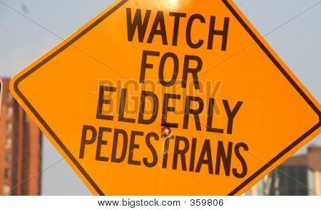 Watch For Elderly Pedestrians