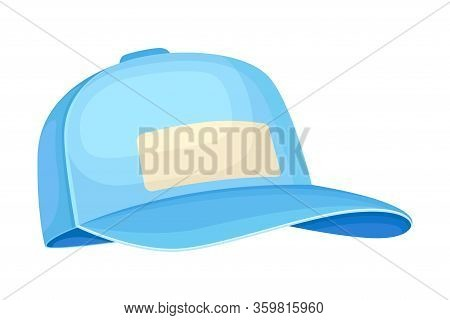 Baseball Cap With Rounded Crown And Stiff Bill In Front Vector Illustration