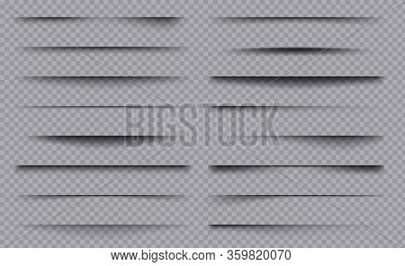 Soft Shadows. Square Overlay Dividers Decoration Frame Boxes With Shadows Vector Template Collection