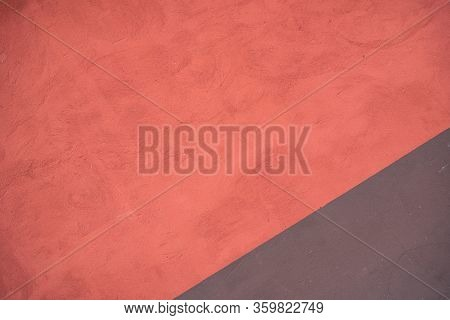 Background Image Of A Wall Covered With Textured Paint. Wallpaper. Substrate For Text. Detailed Text