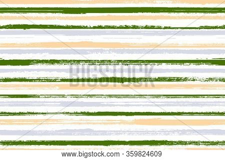 Ink Handdrawn Parallel Lines Vector Seamless Pattern. Traditional Summer Fashion Design. Old Style G