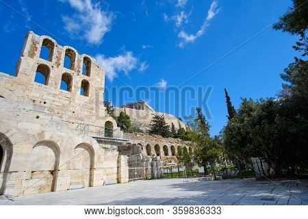 Theater Of Dionysus Ruins, Acropolis, Athens, Greece