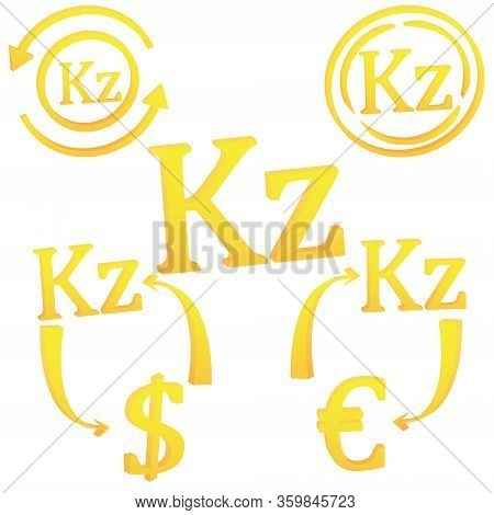 Angolan Kwanza Currency Symbol Icon Of Angola Vector Illustration On A White Background
