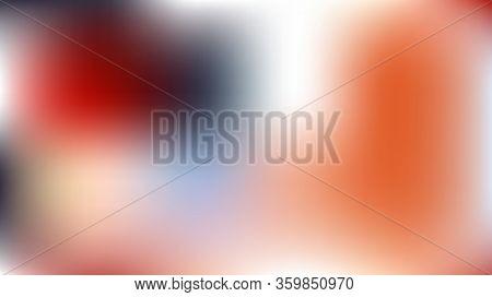 Tender Light Blue, Orange Color Gradient Overlay Mesh Vector Background. Digital Dreamy Magic Sky, S