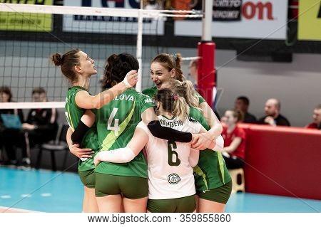 Kamensky, Ukraine-february 14, 2020. Ukrainian Volleyball Cup Of Ukraine. Champion Of Ukraine Vc Khi
