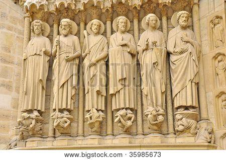 Notre-Dame-de-Paris. Sculpture.